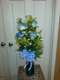 Am I Blue For you ? Rose Vase