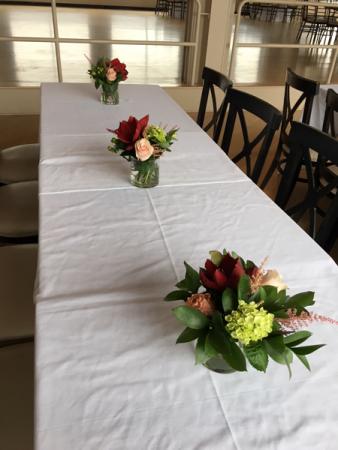 Amaralys table arrangements