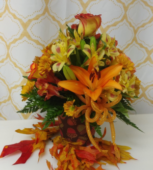 Amazing Autumn Decorative Plastic Container in Immokalee, FL | B-HIVE FLOWERS & GIFTS
