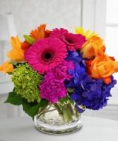 Amazing Colours Vase Fesh flowers in Vase