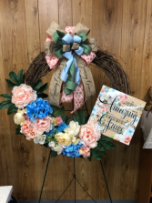 "Amazing Grace  24"" grapevine wreath"