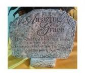 "Amazing Grace 8"" x 10.5"" Memorial Stone"