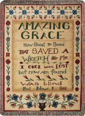 "Amazing Grace - ATAMG Manual 50x60"" Tapestry Throw"