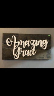 Amazing Grace Barn-Wodd Sign Custome gift item