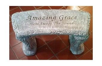 "Amazing Grace Bench 25"" x 10.5"" x 13.5"" Memorial Stone"