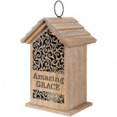 Amazing Grace Birdhouse with Candle