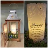 Amazing Grace Candle & Lantern Sympathy