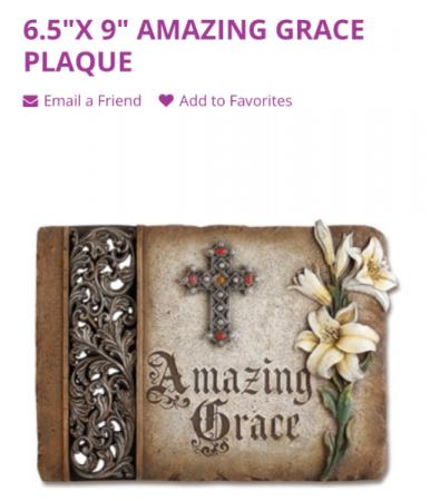 Amazing Grace Decorative Stone