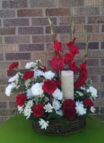 Amazing Grace Floral Basket Arrangement