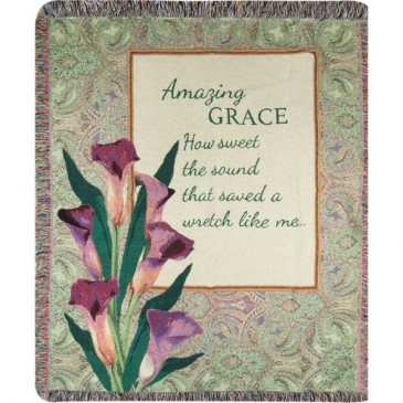 Amazing Grace How Sweet The Sound Tapestry Woven Throw