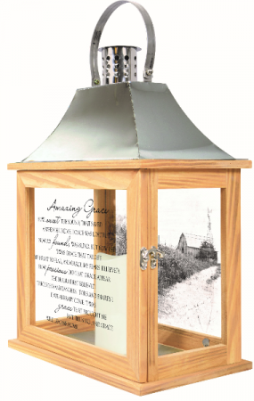 Amazing Grace Lantern Large w/Batteries