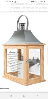 Amazing Grace Lantern with candle