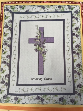 Amazing Grace Lavender Throw
