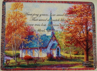 Amazing Grace Tapestry  Thomas Kinkade Throw