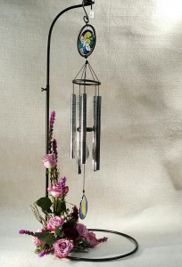 Amazing Grace Wind Chime with Flowers