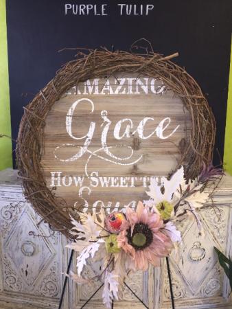 Amazing Grace Wreath Silk Standing Spray