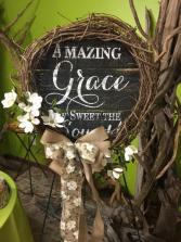 Amazing Grace Wreath Standing Spray