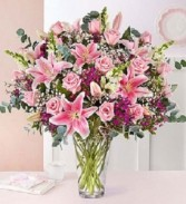 Head Over Heels Bouquet Fresh Vase of Flowers