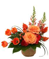 Amber Affection Flower Arrangement