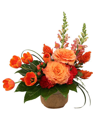 Amber Affection Flower Arrangement in Irving, TX | Flowers of Las Colinas