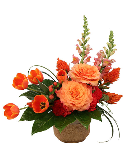 Amber Affection Flower Arrangement
