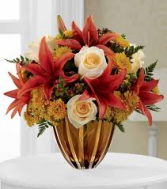 AMBER AUTUMN Vase arrangement