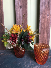 Amber Glass Fall Arrangement