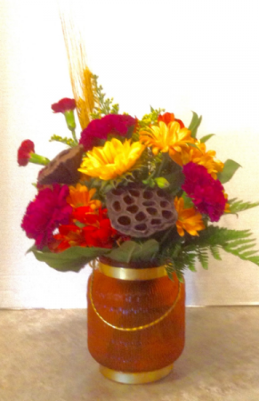 Amber Glow Fall Bouquet  Fresh in Osage, IA   Osage Floral & Gifts