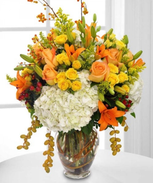 Amber Grandeur Arrangement in Croton On Hudson, NY | Cooke's Little Shoppe Of Flowers