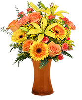 Amber Sky Flower Arrangement