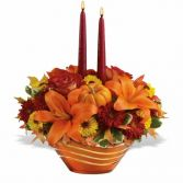 Amber Waves Arrangement Fall Centerpiece