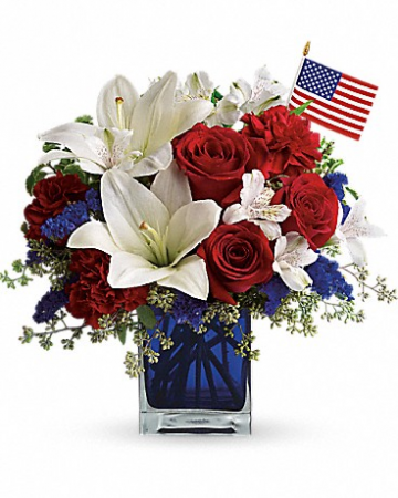 America The Beautiful Fresh Floral Arrangement