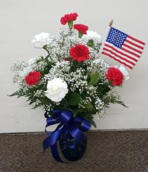 American Anthem Bouquet  FHF 68-23 Vase Arrangement