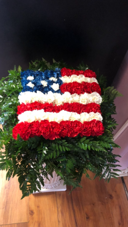 American Flag Fresh Arrangement