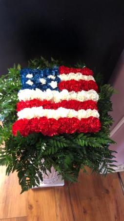American Flag Fresh Arrangement