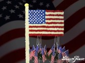 American Flag Standing Arrangement
