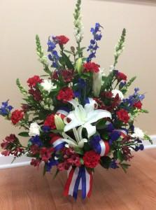 American Hero Arrangment  in Walnut Grove, GA | APRILS ROSE GARDEN