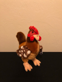 American Rooster Stuffed Plush