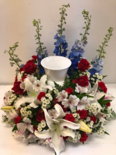 American Soldier Memorial Cremation Flowers