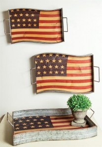 Americana Metal Trays