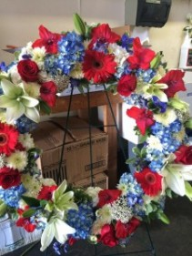 Americana Wreath Sympathy Wreath