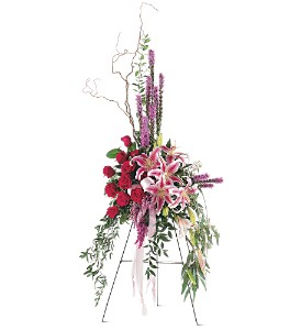 Amethyst and Ruby Spray  in Presque Isle, ME | COOK FLORIST, INC.