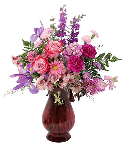 Amethyst Dream Flower Arrangement