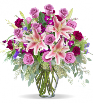 Amethyst Garden Of Blooms Flower Arrangement in Tulsa, OK | THE WILD ORCHID FLORIST
