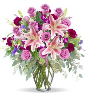 Amethyst Garden Of Blooms Flower Arrangement in Tulsa, OK | THE WILD ORCHID FLORIST