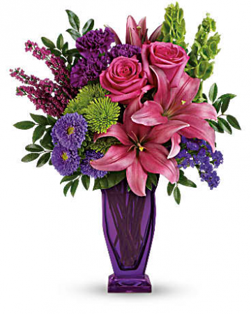 Amethyst Jewels Bouquet Vase Arrangment
