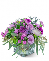 Amethyst Prism Flower Arrangement