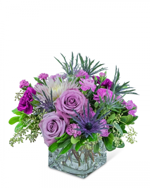 Amethyst Sparkle Flower Arrangement in Nevada, IA | Flower Bed
