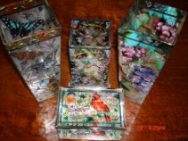 Amia Stain Glass Vases