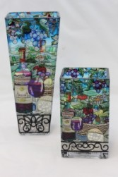 Amia Stained Glass Vase